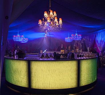 Ice Sculptures, Ice/Light Up Bars & Fruit Displays